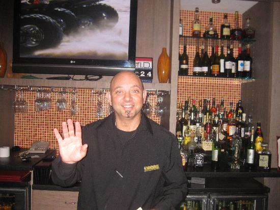 Hilton Clearwater Beach: Sam is a very friendly bartender and I highly recommend him!