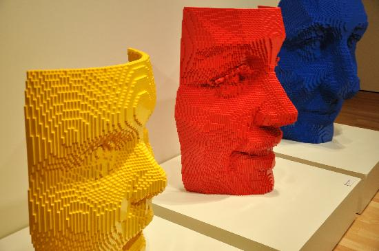 Art of the Brick at the Mulvane Art Museum in Topeka, Kansas.