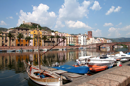 Bosa, Italy: The river