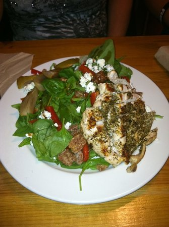 The Pink Bicycle: spinach with chicken breast