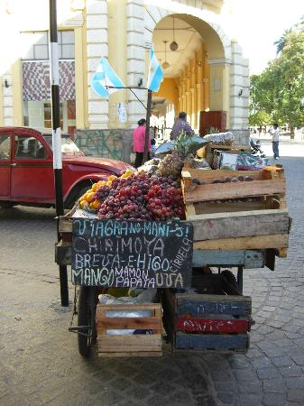 Fruit vendor on the Square in Salta
