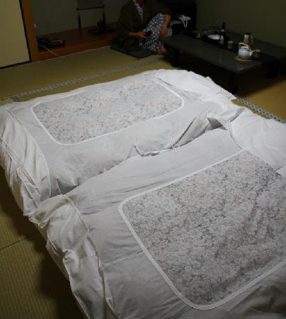 Sojiin : bedding. and yes you can move them apart as my mate suggested :)