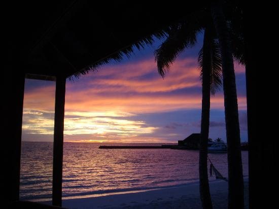 Veligandu Island Resort & Spa : Sunset from bar