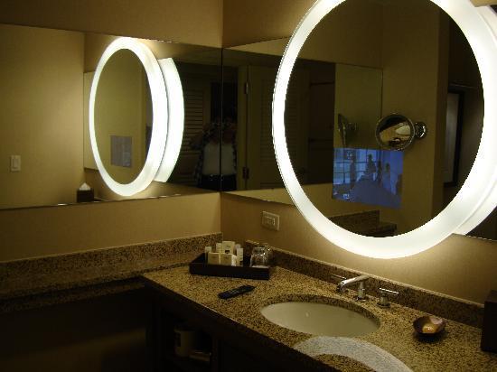 Hyatt Regency Orlando : TV in the mirror