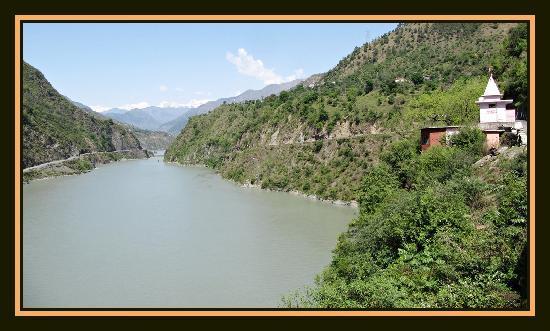 Chamba - The confluence of the rivers Ravi and Baira - Siul at Koti
