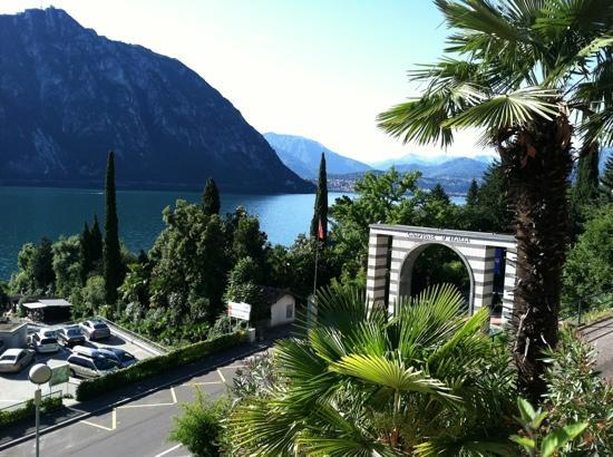 Hotel Campione : View from the pool deck