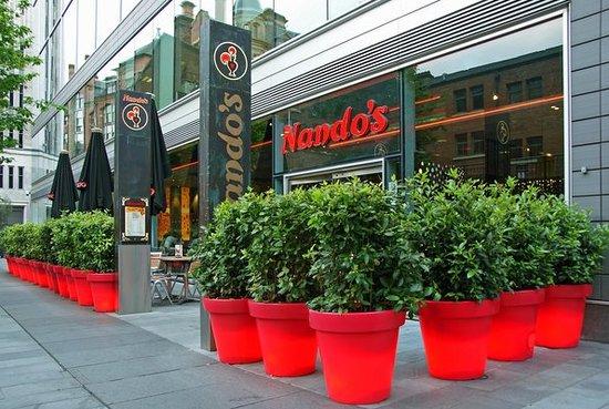 Nando's: The outside where we ate