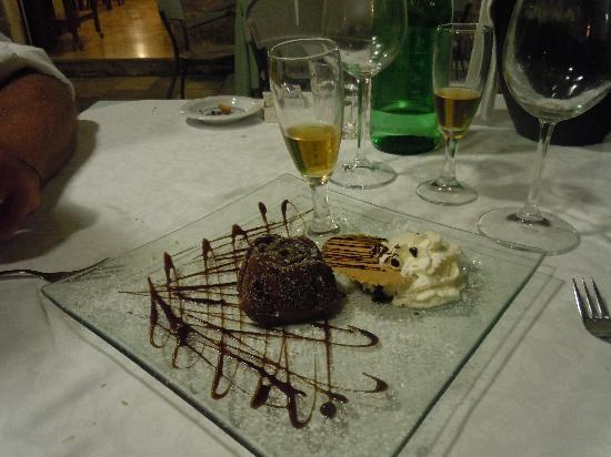 Al Convento PinchPinch: Tortino caldo di cioccolato