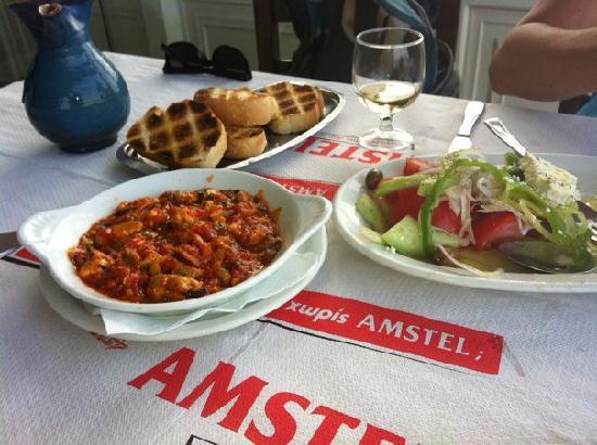 Mario No 1: Mussels saganaki and Greek Salad