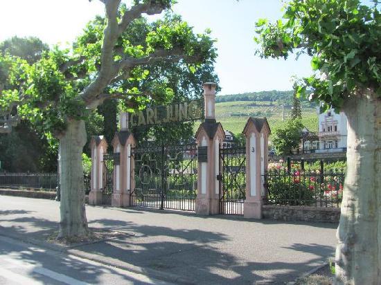 Rheingau Wine Museum Broemserburg Castle : palais seen from the street