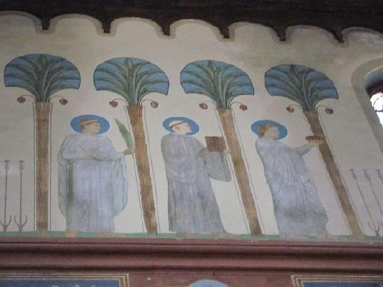 Benedictine Abbey of St. Hildegard: wallpaintings