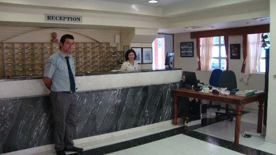 Regina Mare: The reception desk
