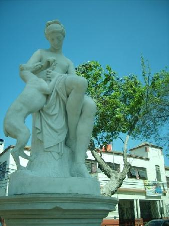 One of the statues in La Serena