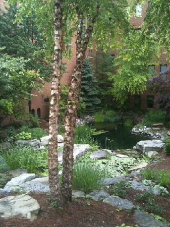 Inn at St. John's: waterfall garden - Inn at St Johns
