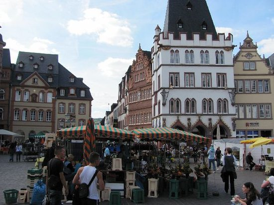 Trier, Germany: House of the 3 Magi and Rotes Haus