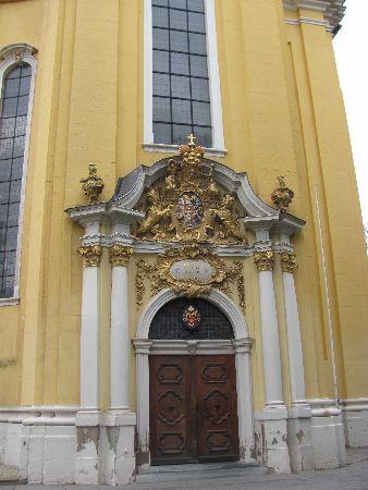 St. Paulin-Kirche: entrance portal
