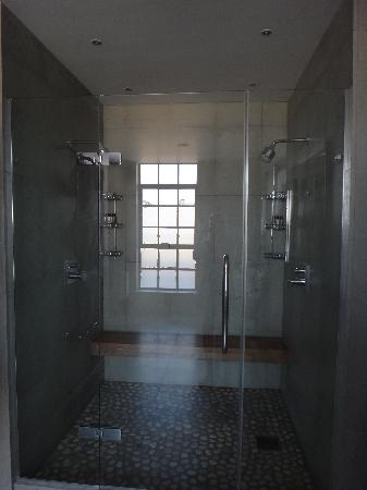 The Soho Hotel: the double shower