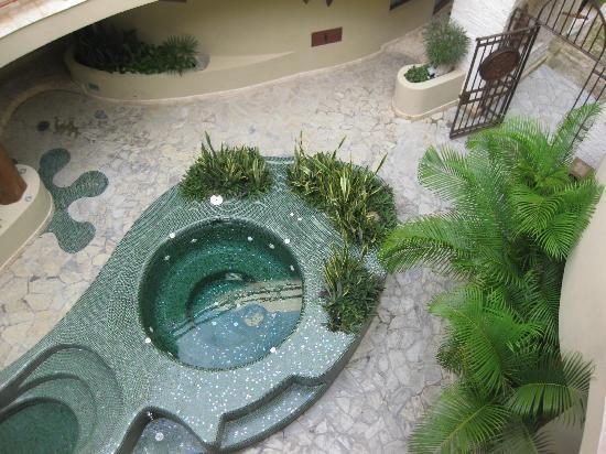 Maya Villa Condo Hotel & Beach Club: Public Hot tub, Gecko head!