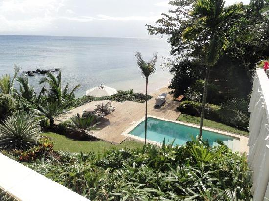 Taveuni Palms Resort: Spectacular outlook from the top deck