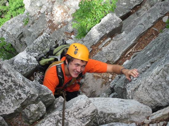 Yokum's Vacationland: Climbing the rock