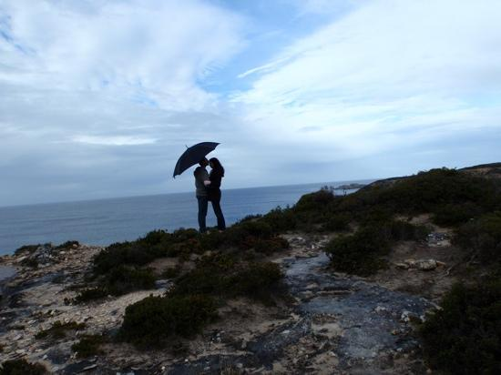 Southern Ocean Lodge: Clifftop walk on our honeymoon :)