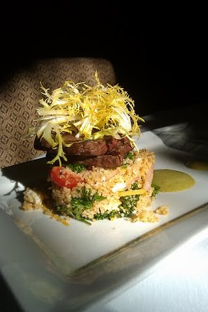 Harrisonburg, VA: Appetizer special of Buffalo Creek Beef and LOCAL feta tabouli