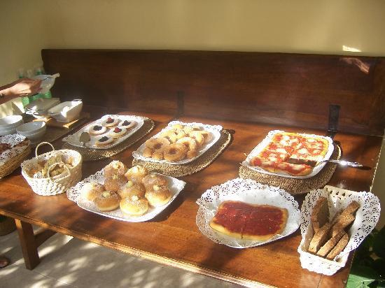 Il Sole Antico: Breakfast table