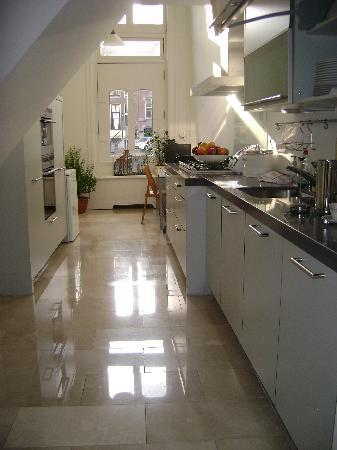 Maes B & B: One of the two kitchens