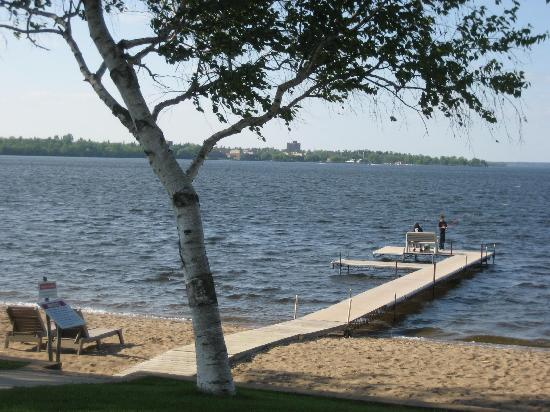 Bemidji, MN: View from Hotel gardens