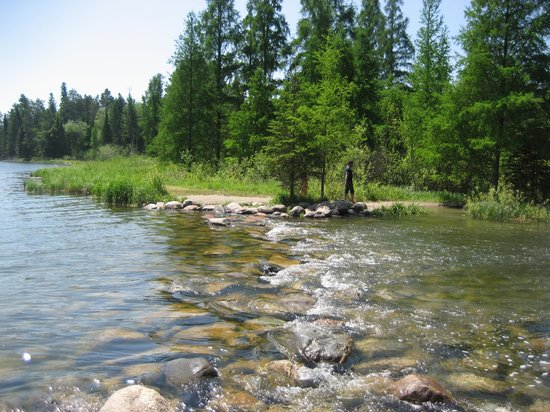 Lake Itasca, Миннесота: The actual birth of the river