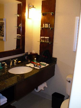 El Paso Marriott: Clean, roomy bath area.