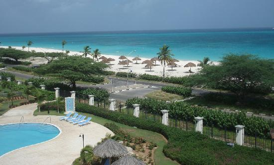 Oceania Residences: View from rooftop patio- eagle beach
