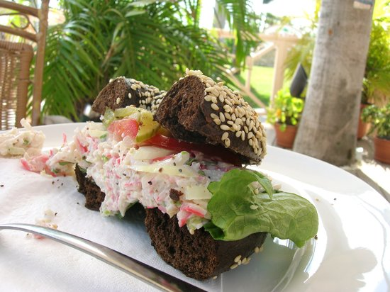 Crab Salad on Bagel