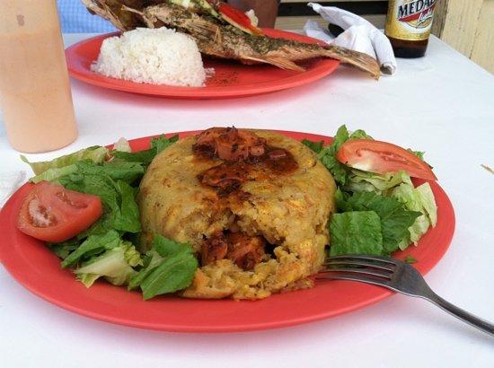 El Varadero Seaside Grill: octopus mofongo. yum!