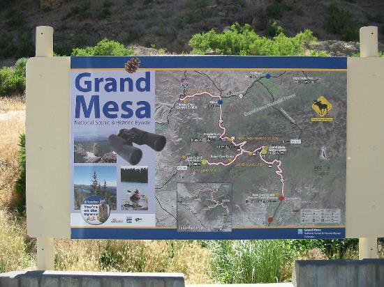 Grand Mesa: Map