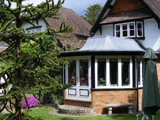 West Lodge Hotel: The rear garden & restaurant