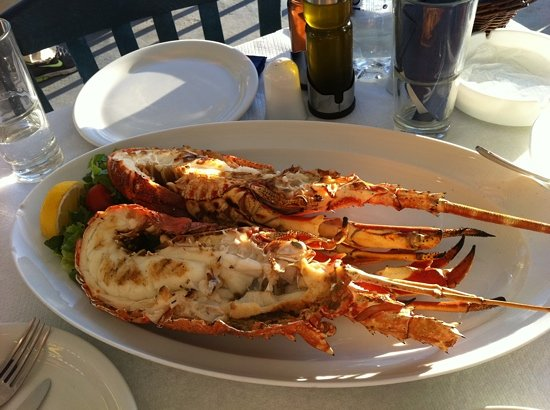 Mylos Bar Restaurant: crayfish grilled