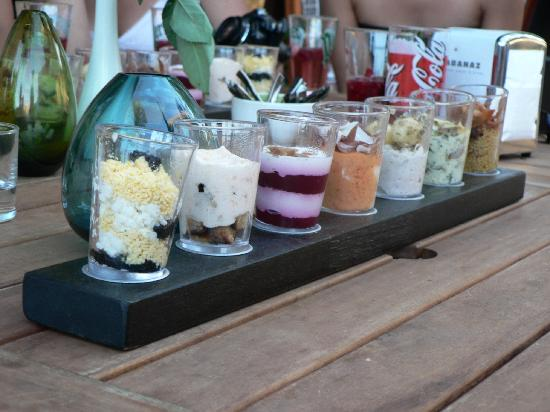 Playfood : presentation de verrines salées