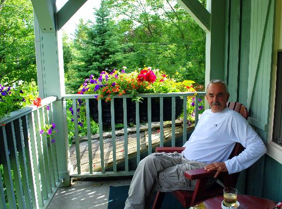 WeatherPine Inn: Mark outside on veranda