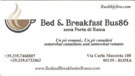 Bus86 Bed and Breakfast: BB in Rome Bus86