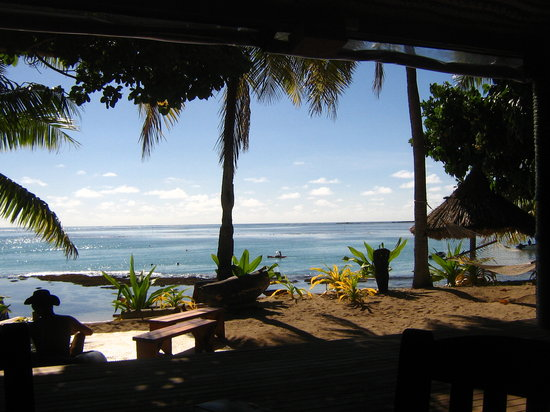 Nacula Island, Fiji: view from the restaurant