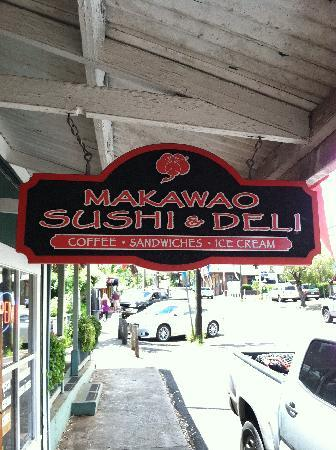 makawao sushi & deli: Entrance from street