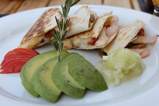 Hotel Cinco Sentidos: Breakfast -Shrimp Quesadillas