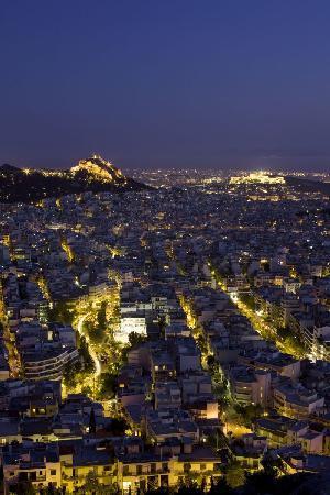 Atenas, Grecia: Panoramic view of Athens