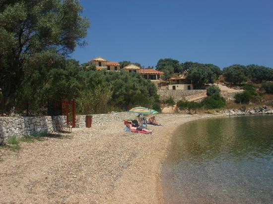 Meganisi, Grækenland: beach infront of paradise studios porto elia