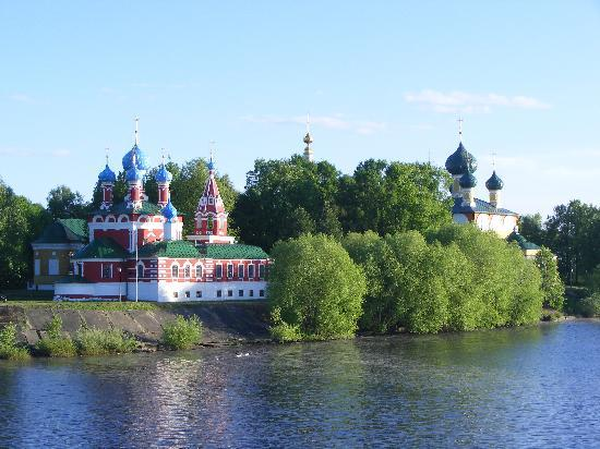 Uglich churches from the River Volga