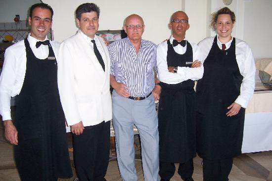 Grand Hotel Hermitage & Villa Romita: Dining room Staff & me