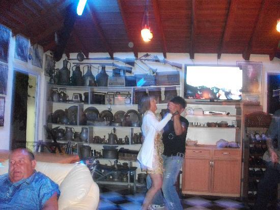 Elif's Cafe : ahmet and guest dancing in bar aera of elif