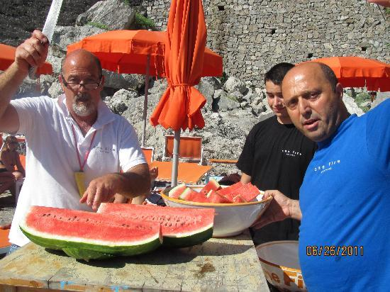 One Fire Beach: Piccoletto  & his friendly team brought out the watermelon on Sunday