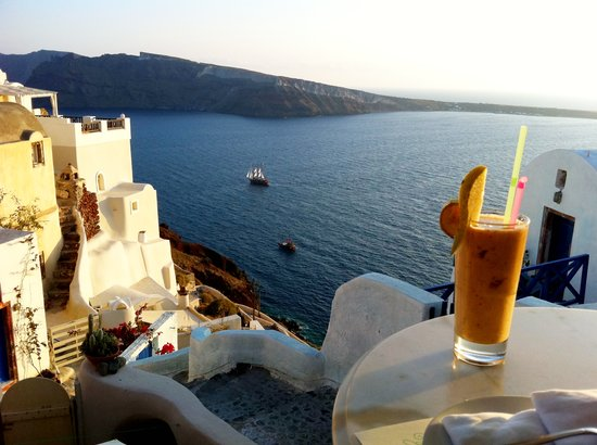 Kastro Oia Restaurant: Mixed juice